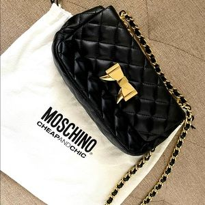 Moschino quilted Napa Bow shoulder bag
